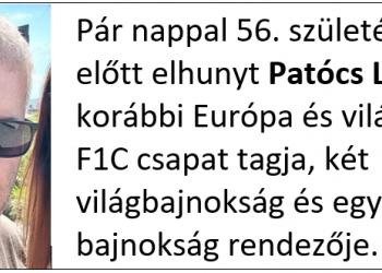 Elhunyt Patócs László
